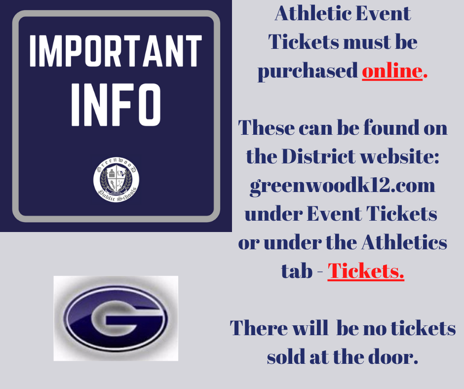 Important Information - athletic tickets