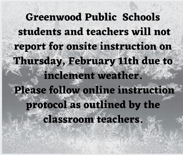 inclement weather message