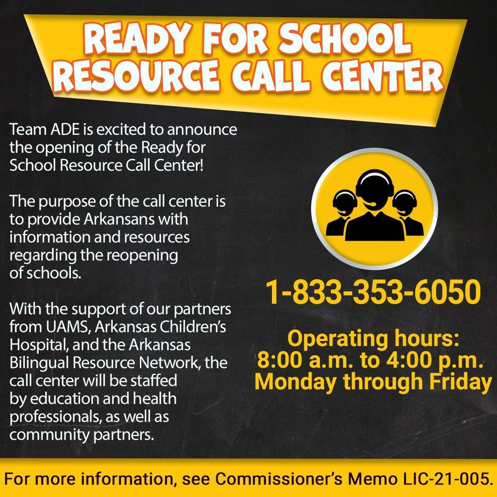 Ready of School Resource Call Center