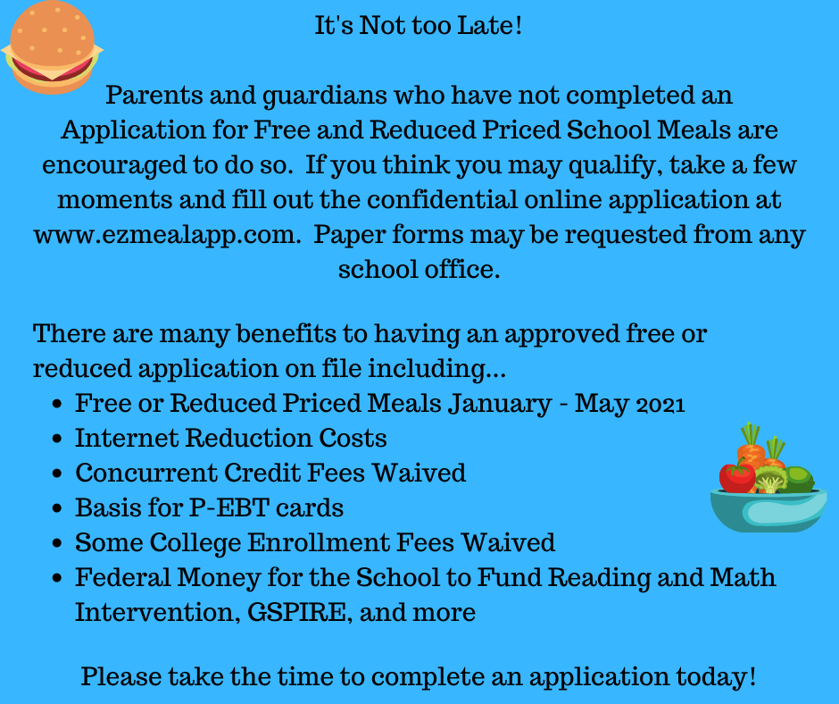 Free and reduced application benefits